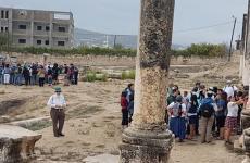 اقتحام المستوطنين للمنطقة الاثرية في سبسطية.jpeg