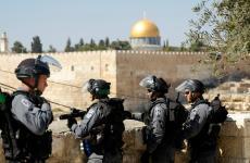 جيش الاحتلال بالقرب من المسجد الأقصى.jpg