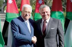 العاهل الأردني وعباس