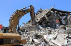 أعمال هدم منازل إثر العدوان على غزة.jpg