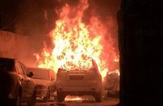 صورة للسيارة المحترقة
