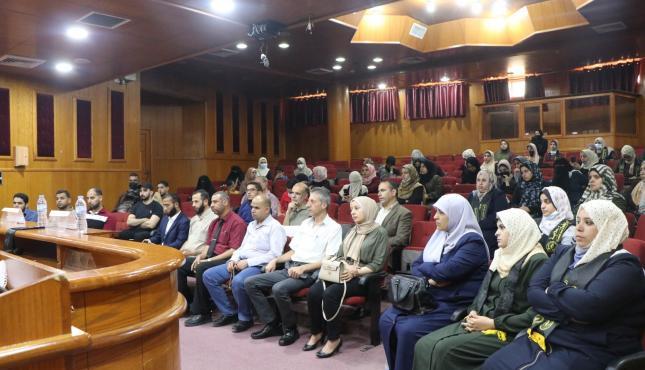 حفل تأبين تنظمه الرابطة الإسلامية لشهداء الجامعة الإسلامية بغزة (1).jpg