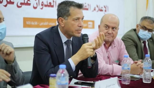 ندوة إعلامية في جامعة الاقصى حول الاعلام والعدوان الإسرائيلي على غزة (1).jpg