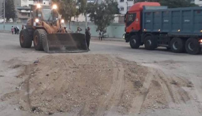 أعمال صيانة في شارع بغداد.jpg