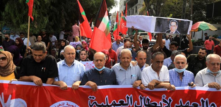 الجبهه الشعبية تحيي ذكري 17 أكتوبر في مدينة غزة