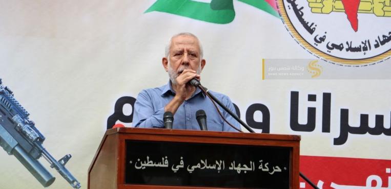 الجهاد الاسلامي تقيم مهرجانًا إسناديًا للأسرى الذين يخوضون معركة الإضراب عن الطعام